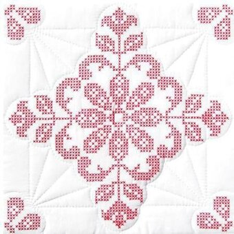 "Interlocking Colonial Williamsburg 18"" Quilt Squares"