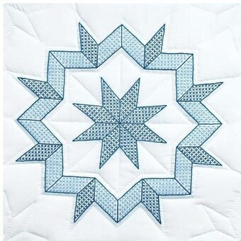 "Kaleidoscope Star 18"" Quilt Squares - Embroidery Kit"