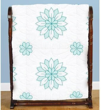 Mandala Flowers Quilt Blocks - Stamped Cross Stitch Kit