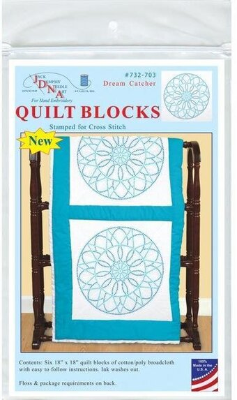 Dream Catcher 18″ Quilt Blocks - Stamped Cross Stitch