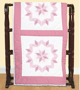 Starburst Quilt Blocks - Stamped Cross Stitch Kit