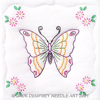 "Butterfly 9"" Quilt Squares - Embroidery Kit"