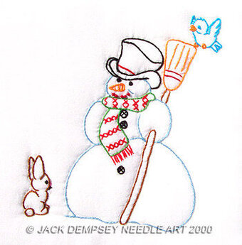 "Snowman 9"" Quilt Squares - Embroidery Kit"