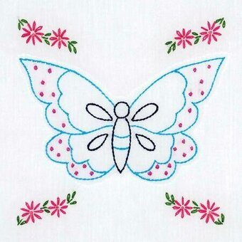 "Butterfly 9"" Quilt Blocks - Embroidery Kit"