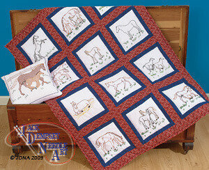 Jack Dempsey Needle Art Mare & Colt Silhouette 18  Quilt Squares ... : quilt squares to embroider - Adamdwight.com
