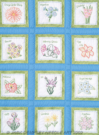 Quilt Squares Embroidery Patterns Kits 123stitch