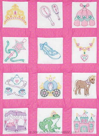Princess Theme Quilt Blocks - Embroidery Kit