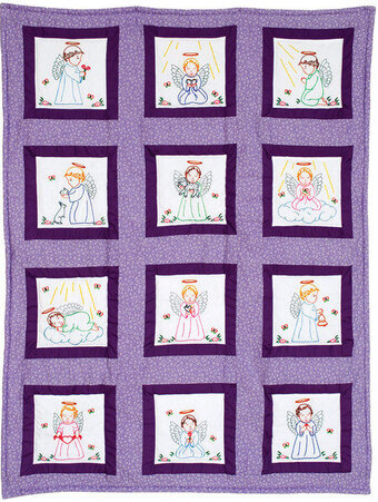 Precious Angel Theme Quilt Blocks - Embroidery Kit