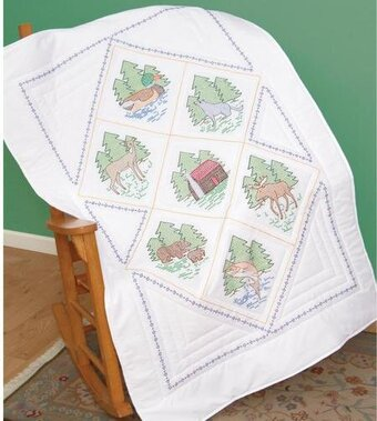 Great Outdoors Lap Quilt Top - Stamped Cross Stitch Kit
