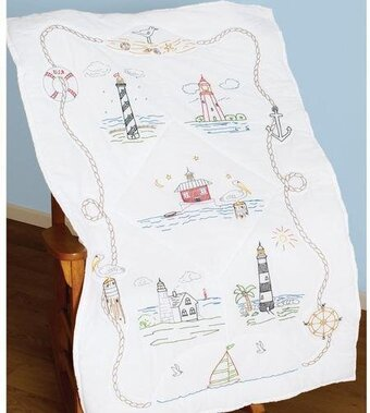 Lighthouses Lap / Wall Quilt - Embroidery Kit