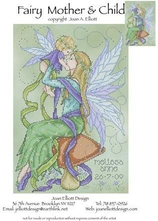 Fairy Mother and Child - Cross Stitch Pattern