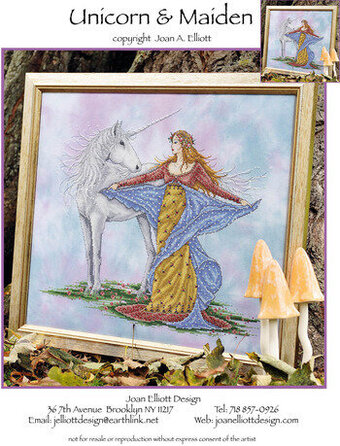 Unicorn & Maiden - Cross Stitch Pattern
