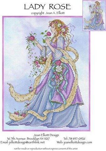Lady Rose - Cross Stitch Pattern