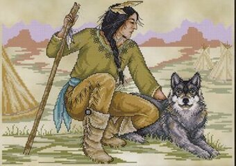 Native American Brave - Cross Stitch Pattern