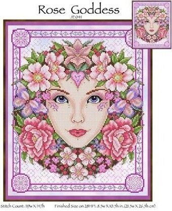 Rose Goddess - Cross Stitch Pattern