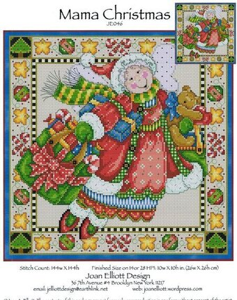 Mama Christmas - Cross Stitch Pattern