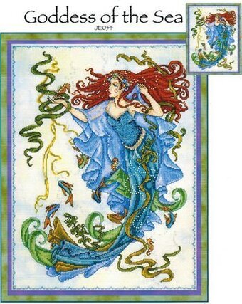joan elliott green goddess cross stitch pattern