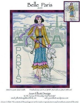Belle Paris - Cross Stitch Pattern