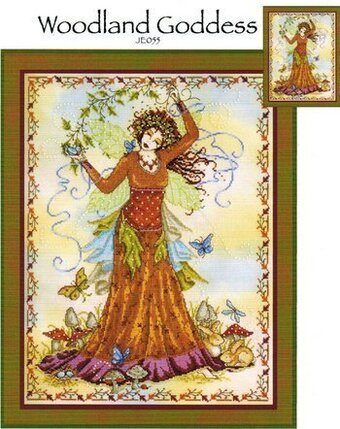 Woodland Goddess - Cross Stitch Pattern