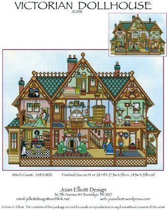 Victorian Dollhouse - Cross Stitch Pattern