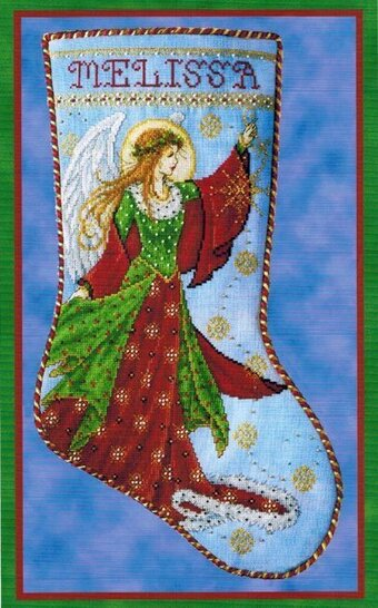 Just Nan Angel Stocking Cross Stitch Pattern 123stitch Com