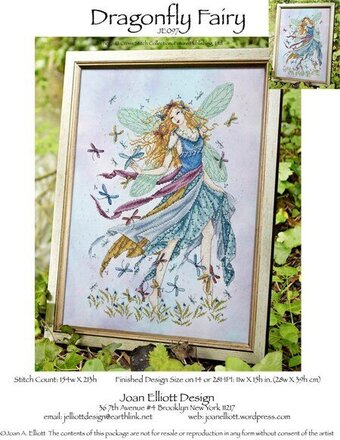 Dragonfly Fairy - Cross Stitch Pattern