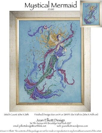 Mystical Mermaid - Cross Stitch Pattern