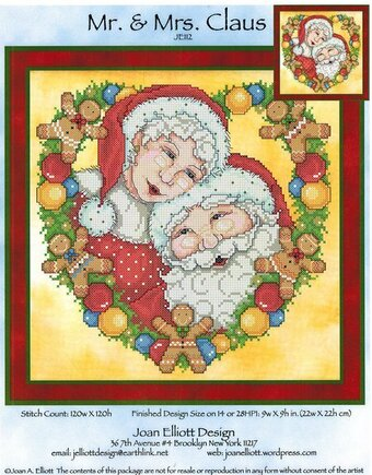 Mr & Mrs Claus - Cross Stitch Pattern