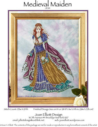 Medieval Maiden - Cross Stitch Pattern