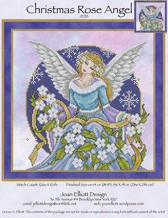 Christmas Rose Angel - Cross Stitch Pattern