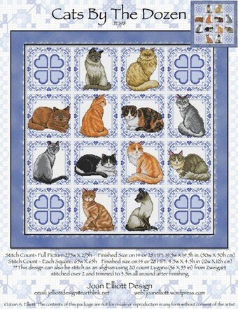 Cats by the Dozen - Cross Stitch Pattern