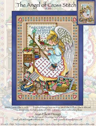 joan elliott the angel of cross stitch cross stitch