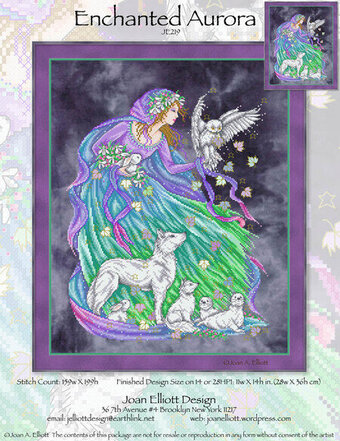 Enchanted Aurora - Cross Stitch Pattern