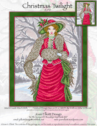 Christmas Twilight - Cross Stitch Pattern