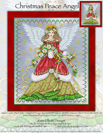 Christmas Peace Angel - Cross Stitch Pattern