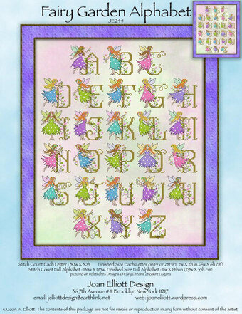 Fairy Garden Alphabet - Cross Stitch Pattern