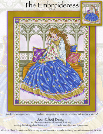 Embroideress, The - Cross Stitch Pattern