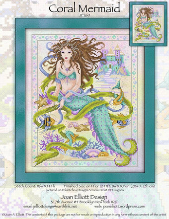 Coral Mermaid - Cross Stitch Pattern