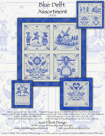 Blue Delft Assortment - Cross Stitch Pattern