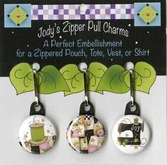 Pink and Black Theme for Quilters - Zipper Pull Charms