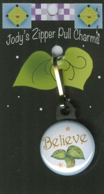 Believe - Zipper Pull Charm