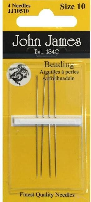 John James Beading Hand Needles Size 10