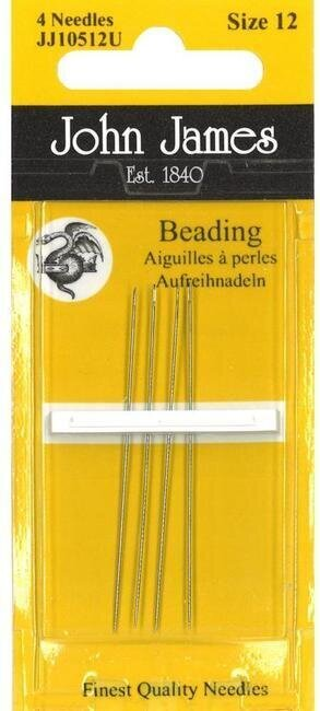 John James Beading Hand Needles Size 12