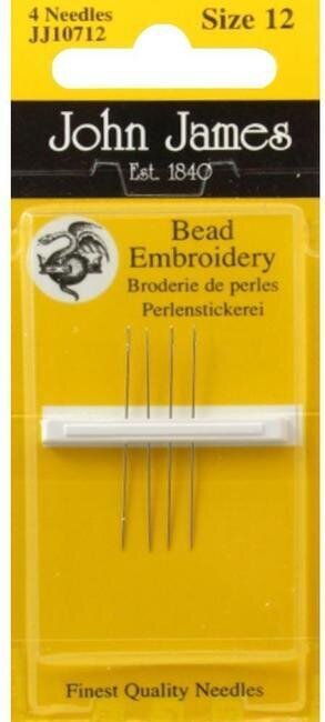 John James Beading Hand Needles Size 12 Short