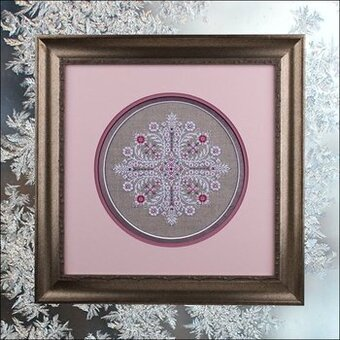 Crystal Roses (with embellishments) - Cross Stitch Pattern