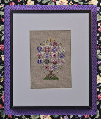 Sun Blossoms Tree with embellishments - Cross Stitch Pattern