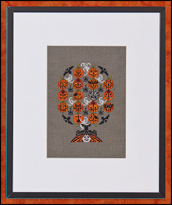 Haunted Pumpkins Tree - Cross Stitch Pattern