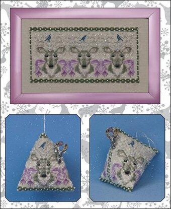 Oh Deer! (w/embellishments) - Cross Stitch Pattern