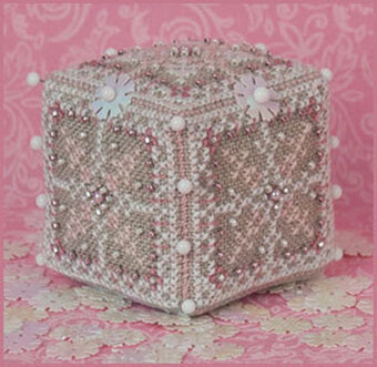 Pink Ice Cube & Embellishments - Cross Stitch Pattern