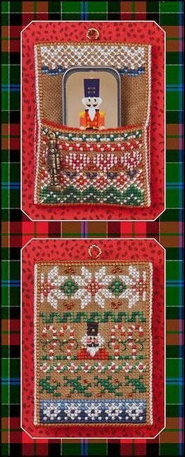 Nutcracker Needle Slide Pocket - Cross Stitch Pattern